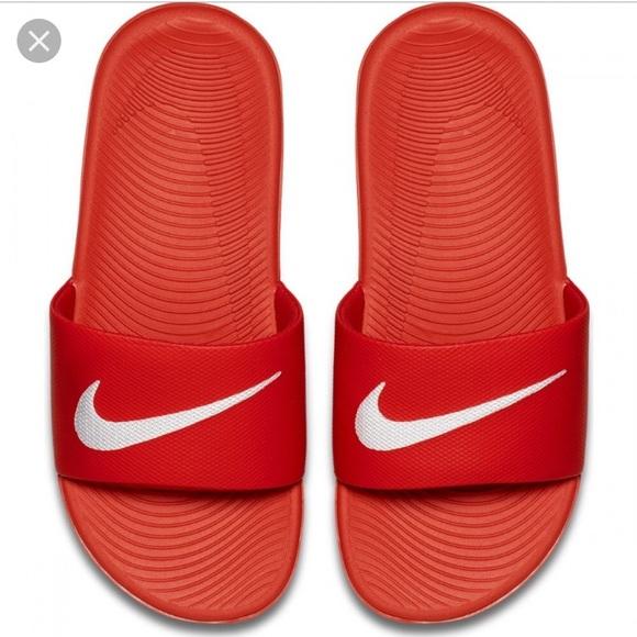 ac183332a Men s Red Nike Kawa Slides